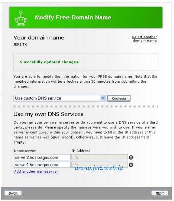 Setting DNS domain tk ke Hosting berbayar