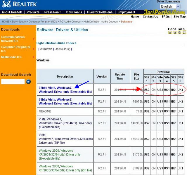 List dan Link Download Driver Realtek High Definition Audio
