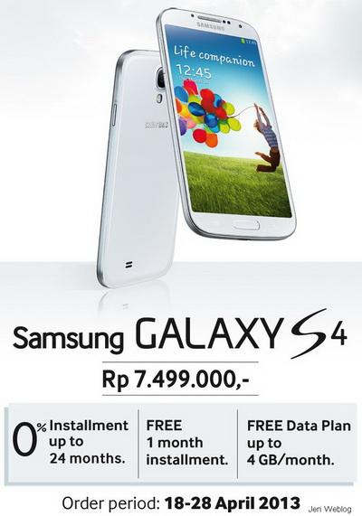 Promo Samsung Galaxy S4