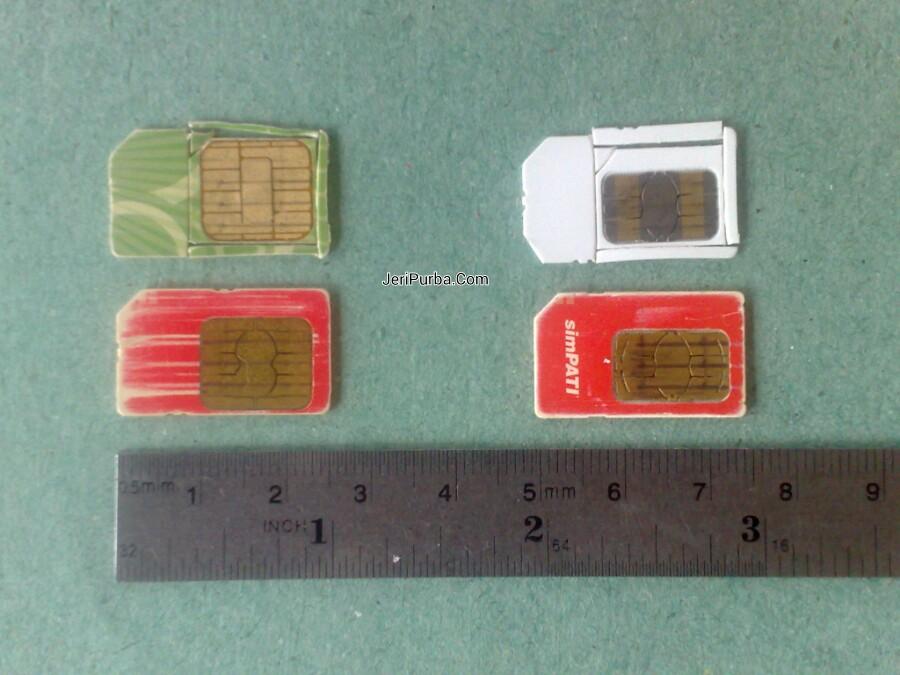 Pemotongan mini SIM Card ke ukuran micro SIM Card 2