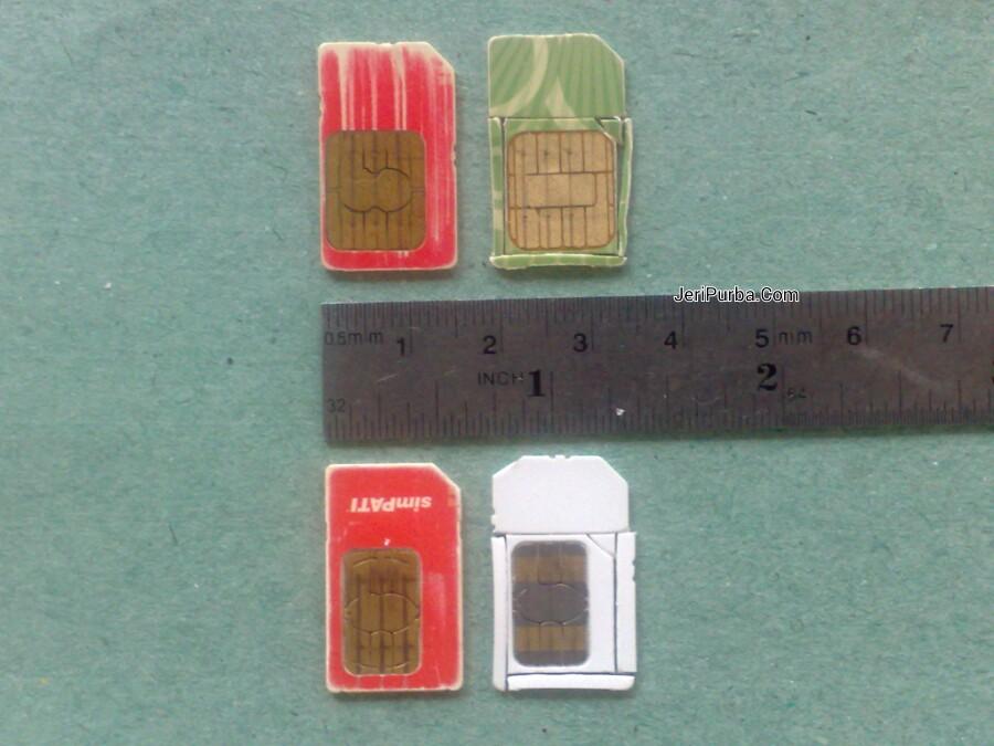 Pemotongan mini SIM Card ke ukuran micro SIM Card