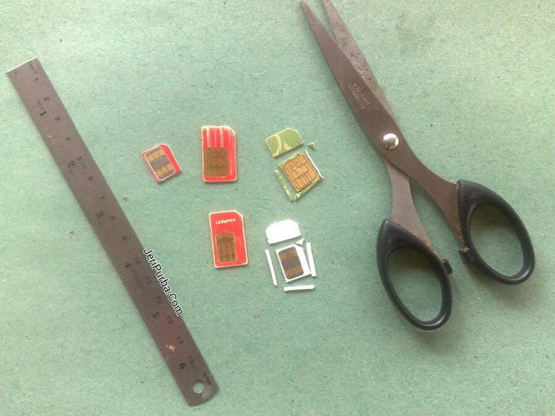 Peralatan untuk membuat kartu micro SIM modifikasi