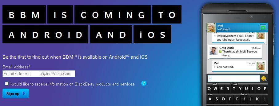 BBM untuk Android dan iOS