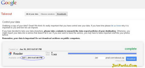 Cara Back Up data di Google Reader
