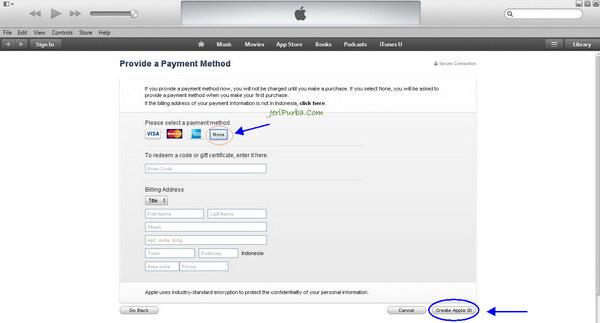 Cara Membuat Apple ID Tanpa Menggunakan Kartu Kredit