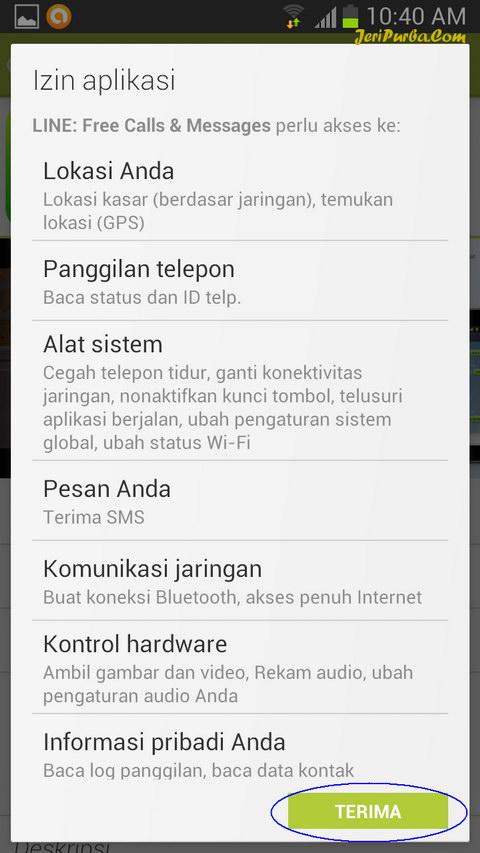 Cara Pasang Line di Android