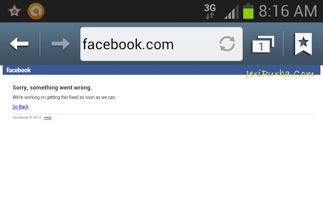 Facebook Down Browser Samsung Galaxy Note 2