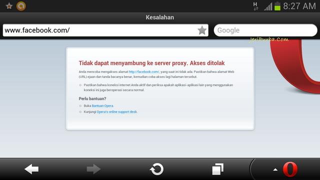 Facebook Down Browser Opera Samsung Galaxy Note 2