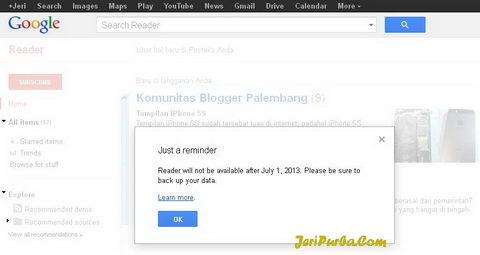 Google Reader ditutup