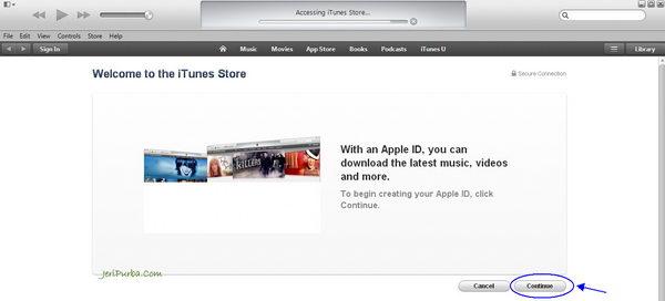 Langkah Kedua membuat Apple ID