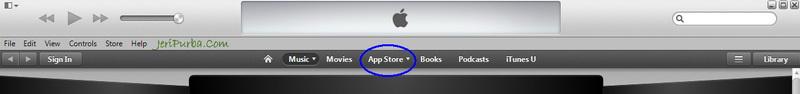 Menu App Store iTunes