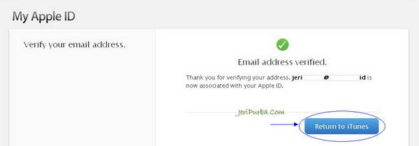 Sukses sign in dan verifikasi Apple ID
