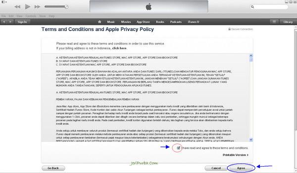 Syarat dan Ketentuan iTunes