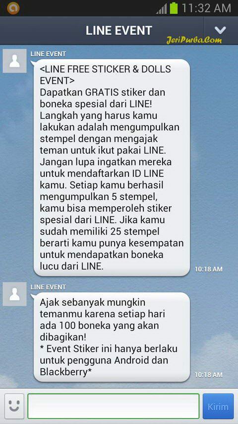 Tampilan Aplikasi Chat Line