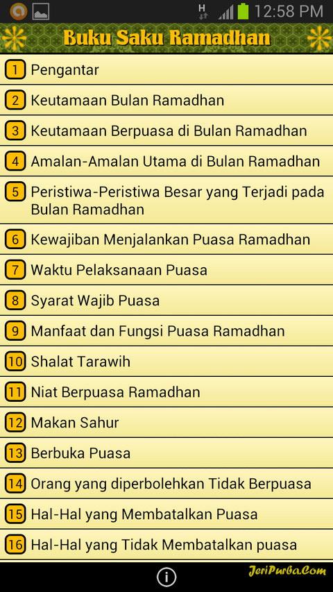 Aplikasi Android Buku Saku Ramadhan