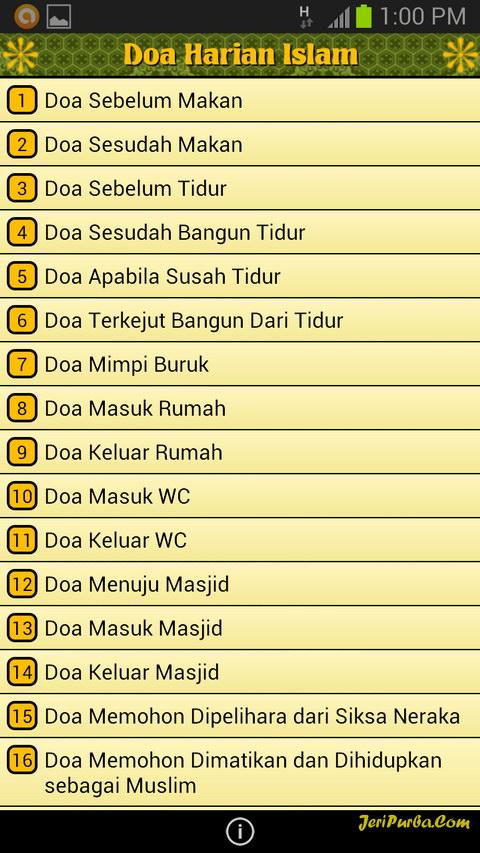 Aplikasi Android Doa Harian Islam