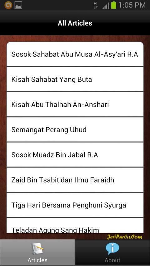 Aplikasi Android Kisah Sahabat Nabi