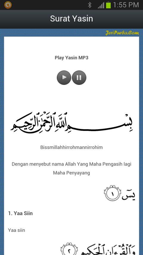 Aplikasi Android Surah Yasin dan Tahlil