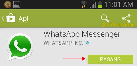 Cara Instal WhatsApp