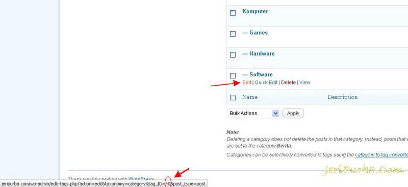Cara Melihat ID Kategori WordPress