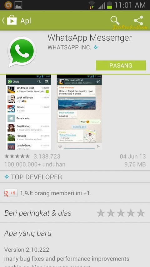 Cara Pasang WhatsApp