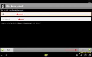 Input User dan Pass Google Akun untuk mengakses App Store BlueStacks