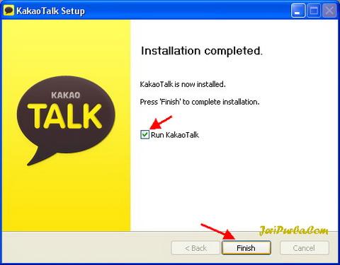 Instal KakoTalk untuk PC selesai