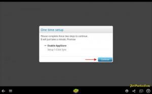 Pemberitahuan untuk Mengaktifkan App Store dan Sinkronisasi akun gmail