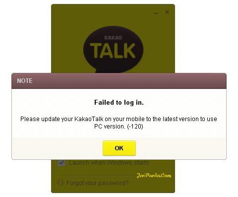 Pemberitahuan Untuk Update Versi Terbaru KakaoTalk di ponsel