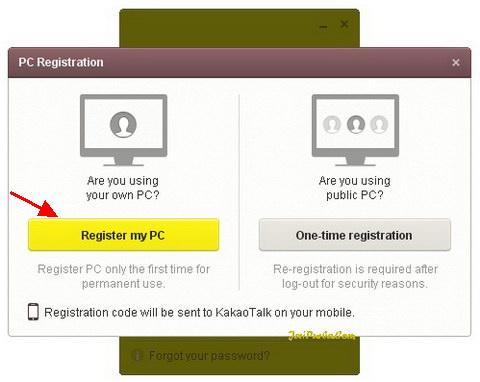 Pendaftaran KakoTalk Untuk PC