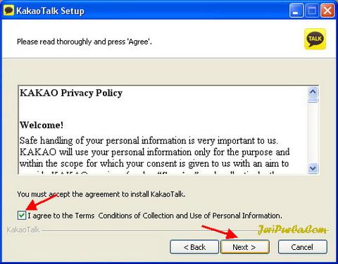 Persetujuan Pemasangan KakaoTalk di PC