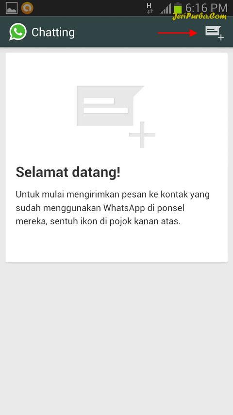 Tampilan Awal Aplikasi WhatsApp