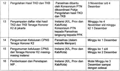 Pelaksanaan Seleksi CPNS dari Tenaga Honorer K-II Agustus Tahun 2013