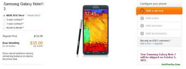Pre Order dan Harga Samsung Galaxy Note 3