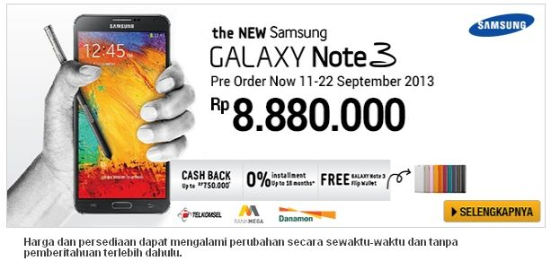 Promo Samsung Galaxy Note 3