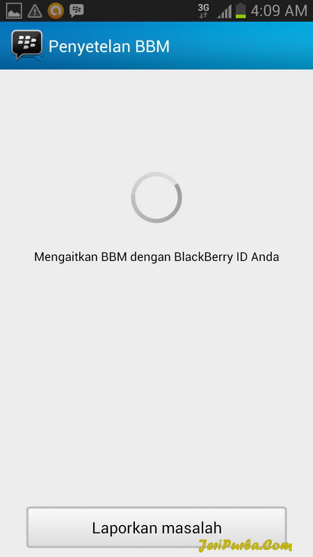 Proses Login dan Setting BBM for Android