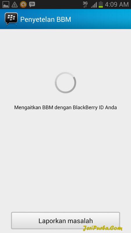 Proses Login dan Setting BBM for Android