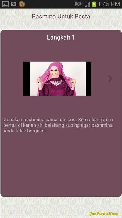 Cara Memakai Hijab Pashmina Untuk Ke Pesta