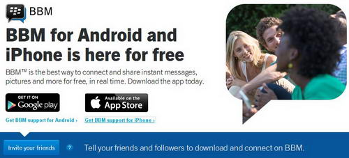 Download BBM for Android dan BBM for iOS