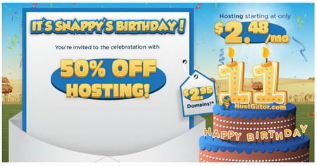 Hostgator Coupon 50% off all new Hosting Packages and $2.95 Domains