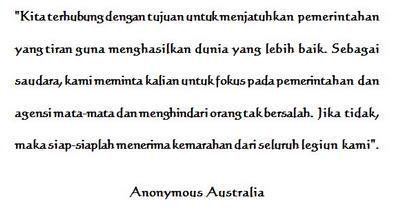 Anonymous Australia Peringatkan Anonymous Indonesia