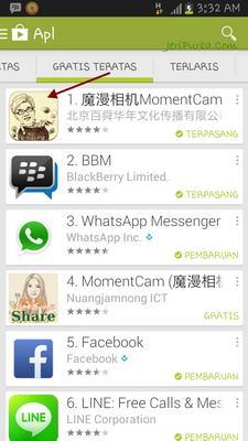 Aplikasi Android Terpopuler 11-11-2013