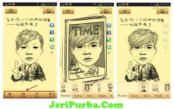 Cara Menggunakan Aplikasi Edit Foto Karikatur Android Moman Camera Versi 2.3.6
