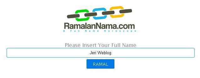 Cara Meramal Nama di Situs RamalanNama.Com