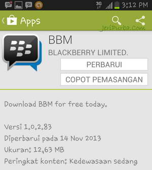 Download BBM For Android versi 1.0.2.83