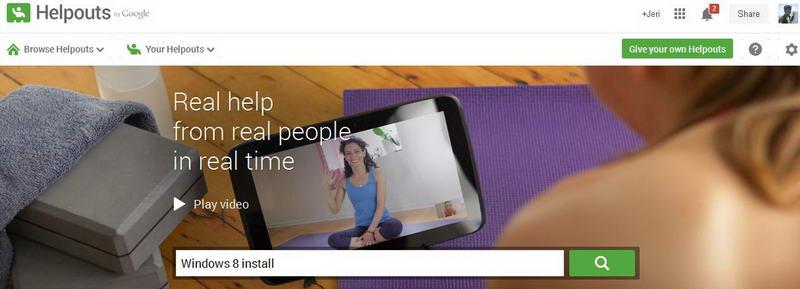 Kolom Pencarian Bantuan Pada Google HelpOuts