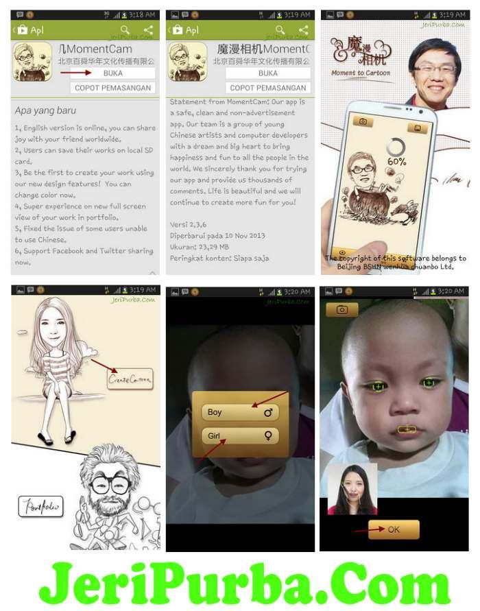 Update Aplikasi Edit Foto Karikatur Android Moman Camera Versi 2.3.6