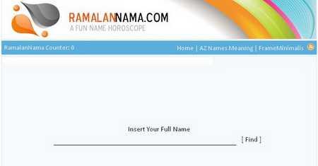 Wajah Lama Situs RamalanNama.com Tahun 2011