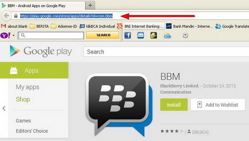 link download aplikasi BBM for Android di Google Play Store