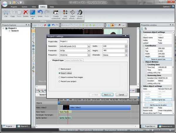 Cara Membuat Proyek Baru Melalui VSDC Free Video Editor